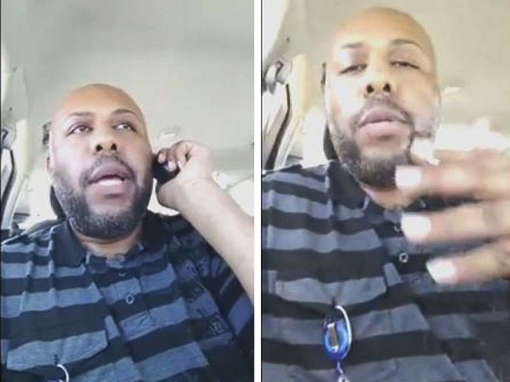 PHOTO: A man who identified himself as Steve Stephens is seen in a combination of stills from a video he broadcast of himself on Facebook in Cleveland, April 16, 2017.