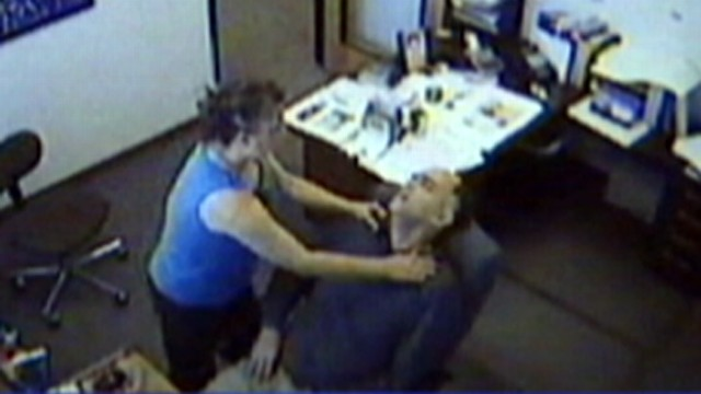 mans heart attack caught on tape video abc news