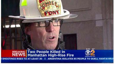 Elderly couple die in luxury Manhattan high-rise blaze
