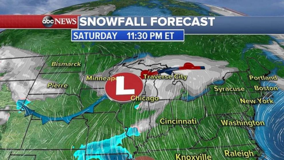 Snow is in the forecast for Saturday night.
