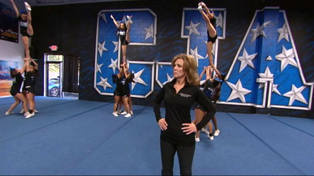 Cheerleading coach can039t stop cumming on bbc