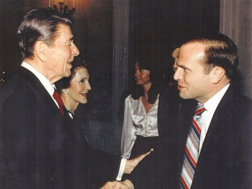 PHOTO: Col. Tim Milbrath with former President Ronald Reagan.