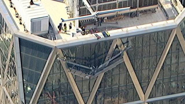 Workers Pulled To Safety Through 44th Story Window At