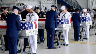 Remains of US soldiers killed in Korean War arrive in Hawaii