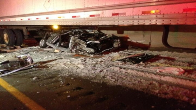 Car Wreck Victims Survive Being Crushed By Semi Video