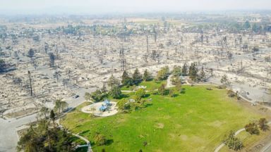 Apocalyptic views from above the deadly California wildfires
