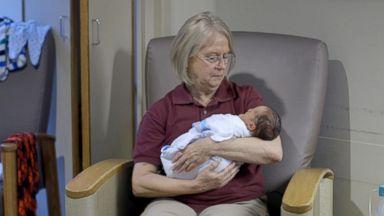 Cuddle volunteers help to soothe West Virginia's drug-exposed babies