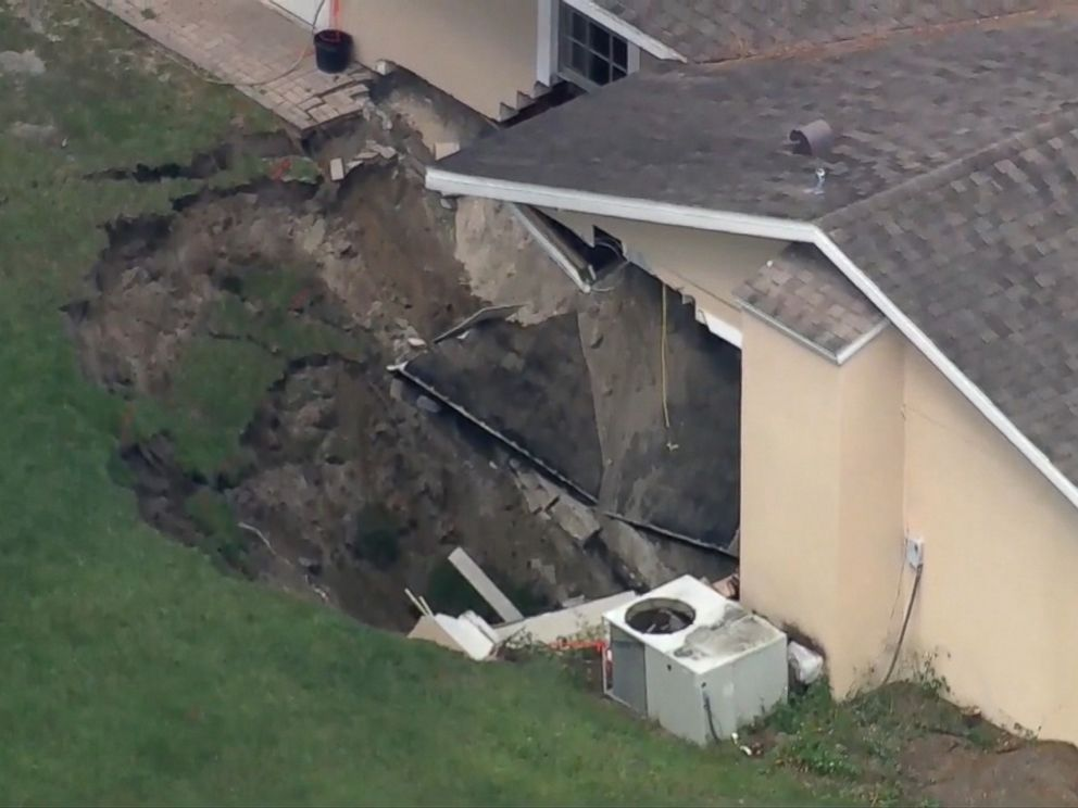 Sinkhole Swallows Part Of Florida Home