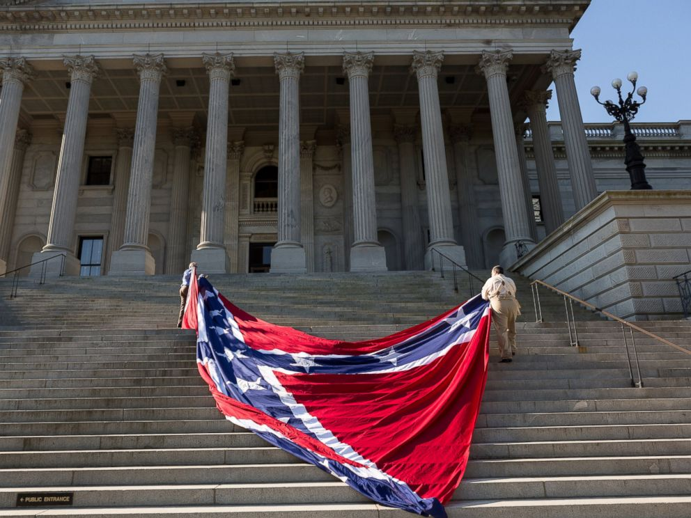 Confederate Flag Flying On South Carolina Capitol Grounds