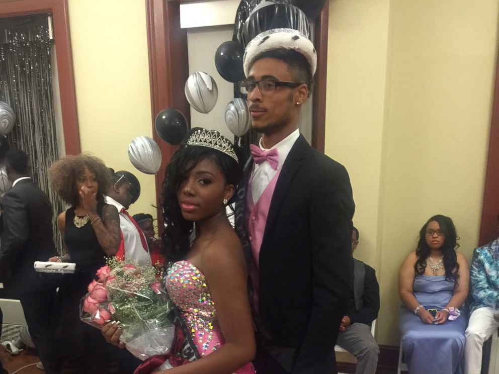 PHOTO: Destyni Tyree was voted prom queen, posing here with a friend.