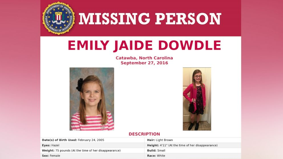Fbi Searching For Missing 11 Year Old North Carolina Girl
