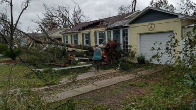 Husband and wife who lost home in Hurricane Michael say 'family' is the only Christmas gift they need