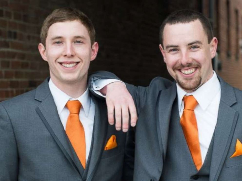 PHOTO: Justin Booska, left, is pictured with his brother Ben Booska in an undated handout image.