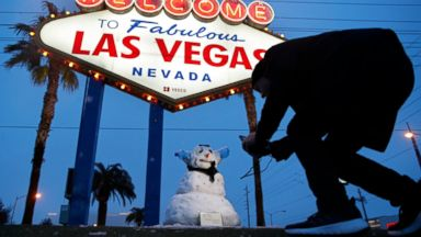 Los Angeles, Las Vegas see rare snow; storm moves east over weekend
