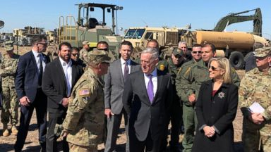 Mattis defends military's border support mission while visiting troops in Texas