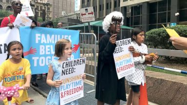 Nannies, children protest family separation and detention outside ICE offices
