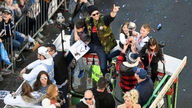 New England Patriots' Super Bowl victory parade held in Boston