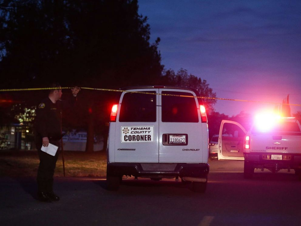PHOTO: A Tehama County Coroners van enters the Rancho Tehama Elementary school grounds after a shooting on Nov. 14, 2017, in Rancho Tehama, Calif.