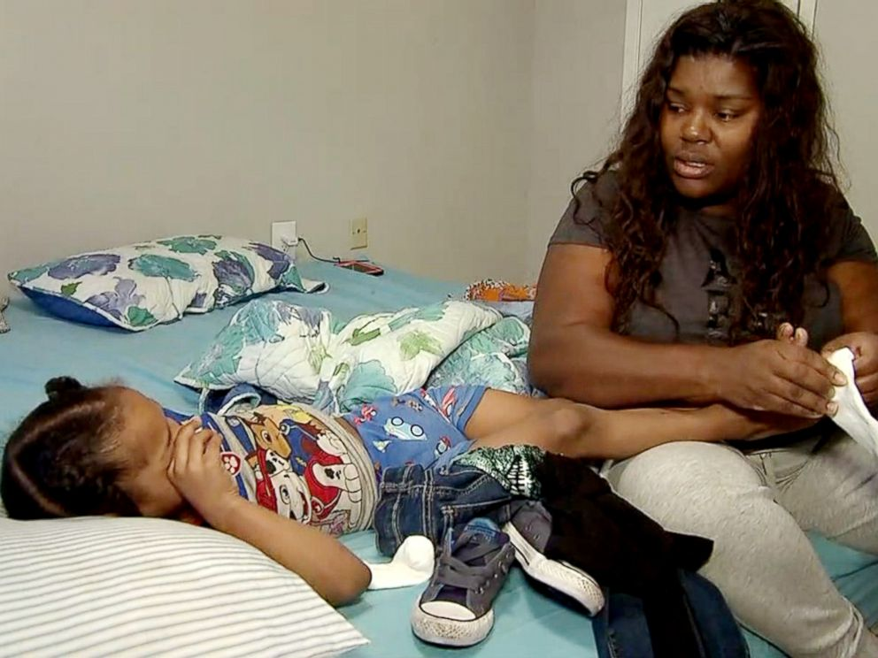 PHOTO: Iashia Nelson, the woman whose plea for rescue from the roof of a Houston building during Hurricane Harvey went viral, is pictured here with her 4-year-old son two months after Harvey.