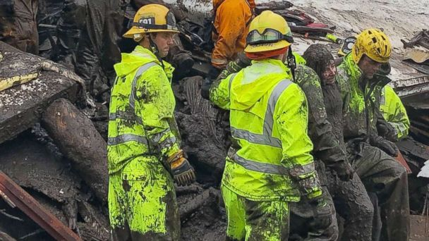 Firefighters Rescue 14 Year Old From California Home Destroyed By Mudslides Abc30 Com
