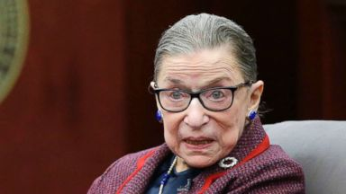 Justice Ruth Bader Ginsburg returns to the bench after suffering fractured ribs