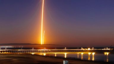 SpaceX launch lights up night sky in Southern California