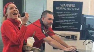Southwest flight attendant sings 'I'll Be Home For Christmas' to  Houston travelers