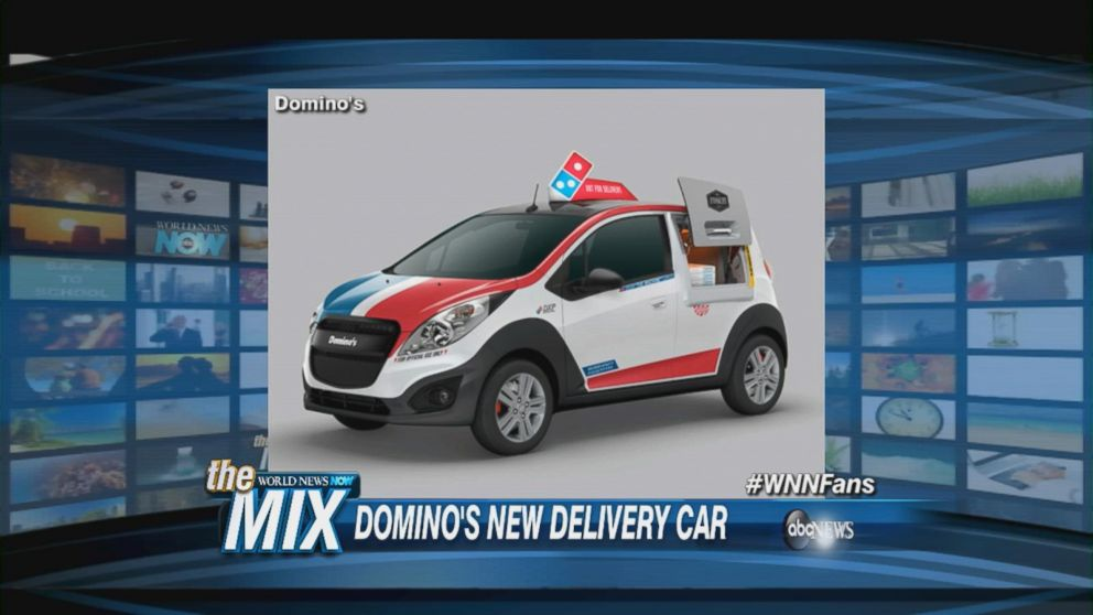 domino 39 s new delivery car with an oven video abc news. Black Bedroom Furniture Sets. Home Design Ideas