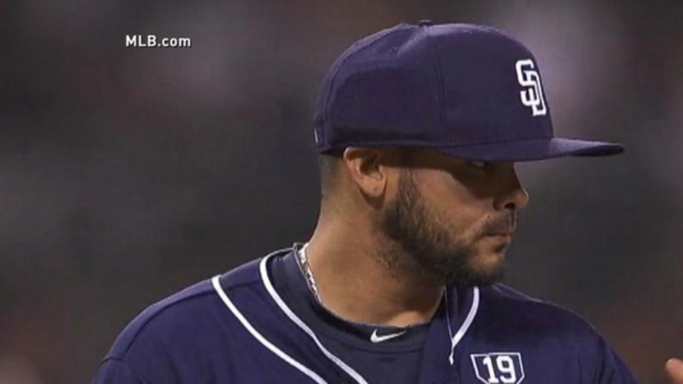 Padres Pitcher First To Use Protective Baseball Cap Abc News