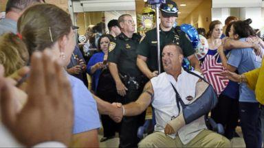 Hero's Send-Off: Sgt. Bruce Simmons Leaves Hospital in Baton Rouge