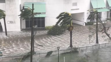 Hurricane Irma roars into the Florida Keys and continues up the coast