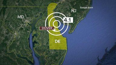 4.1 magnitude earthquake rocks East Coast