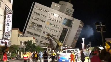At least 2 dead, 200 injured in Taiwan earthquake
