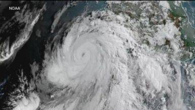 Hurricane Bud about 200 miles off the coast of Mexico