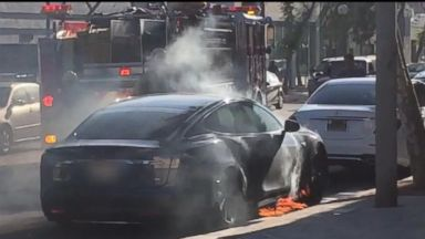 Actress Mary McCormack calls out Tesla after husband's car bursts into flames