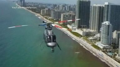 Close encounter between a helicopter and a drone mid-air in Florida