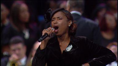 Jennifer Hudson sings 'Amazing Grace' at Aretha Franklin funeral
