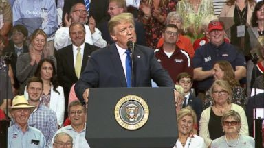 WH defends Trump's mocking of Ford in front of cheering crowd