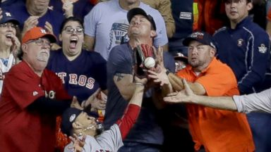 Astros fan involved in a controversial interference call