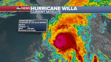 Hurricane Willa on track to slam into Mexico and then drench Texas