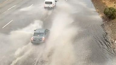 Flash flooding reaches areas damaged by wildfire