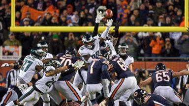 Bears kicker misses game-winning field goal against Eagles